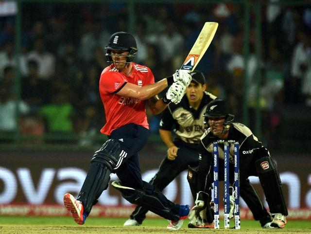 Jason Roy hit the first of England's three perfect reverse sweeps in the semifinal against New Zealand.