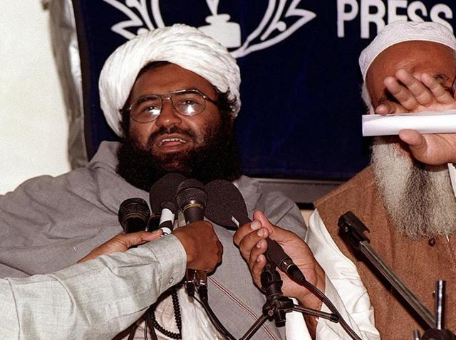 File photo of Jaish-e-Mohammed chief Masood Azhar from August 2001.
