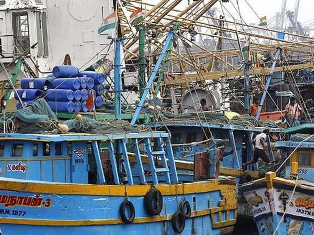 Fifty-nine Indian fishermen were arrested for allegedly entering the country's territorial waters.