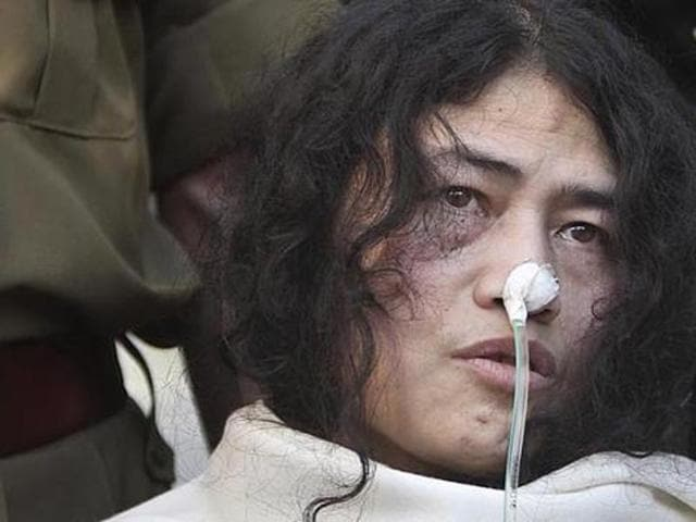 Rights activist Irom Sharmila continues her fast unto death in her security room in Imphal's J.N. Institute of Medical Sciences, a kind of sub-jail.