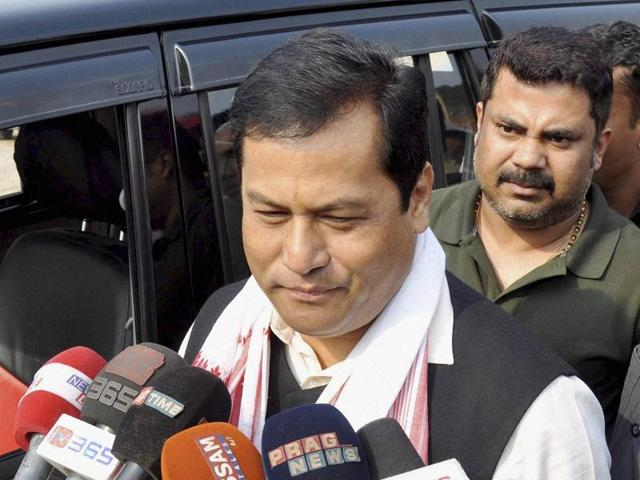 File photo of BJP's CM candidate Sarbananda Sonowal in Assam.