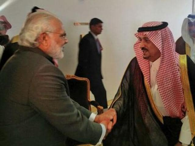 Prime Minister Narendra Modi was received by the governor of Riyadh when he flew into Saudi Arabia after attending the Nuclear Security Summit hosted by US President Barack Obama in Washington.