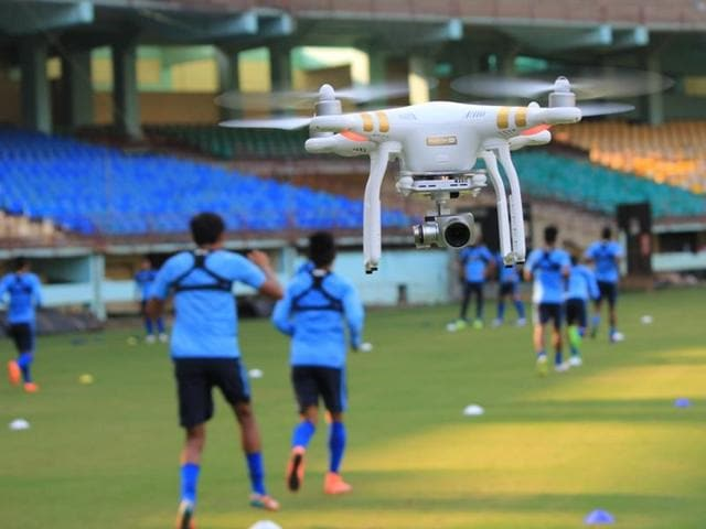 The drone which is being used for Video Analysis by the Indian National Team.