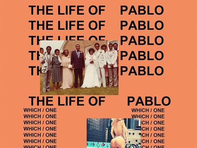 The album cover of The Life of Pablo.
