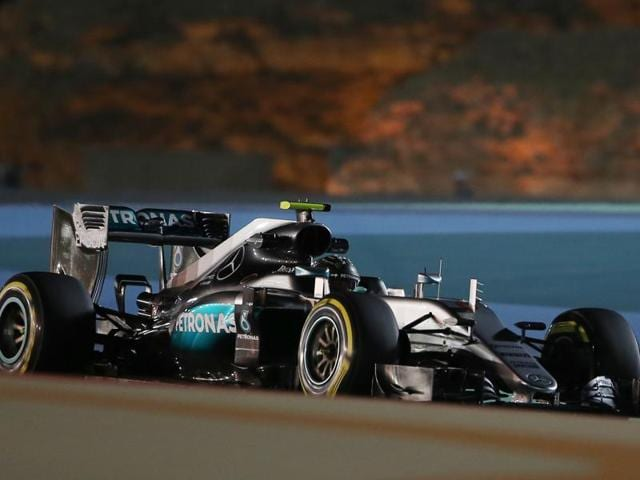 Mercedes' Nico Rosberg clocked the fastest lap in Friday's second practice.