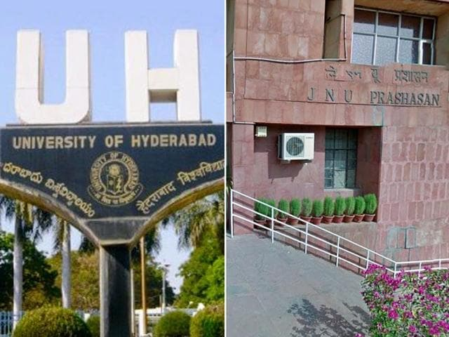 JNU and UoH have been on the boil since January with rival students groups sparring over differing political ideologies, but that seems to have had little impact on their academic excellence.