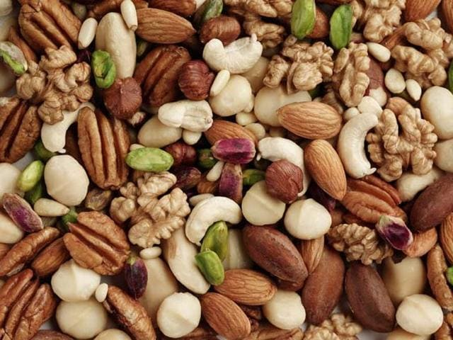 In the right portions, nuts are an essential part of a healthy, balanced diet as they provide good quality protein and good fats that actually help your heart's health.