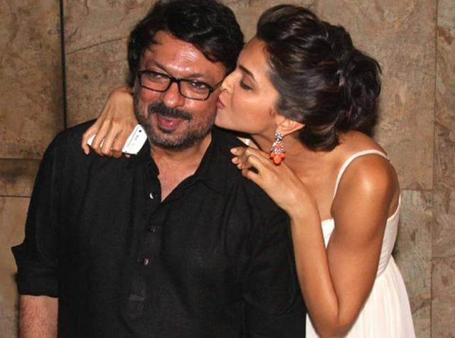 Deepika Padukone spent more than an hour with Sanjay Leela Bhansali before his party.