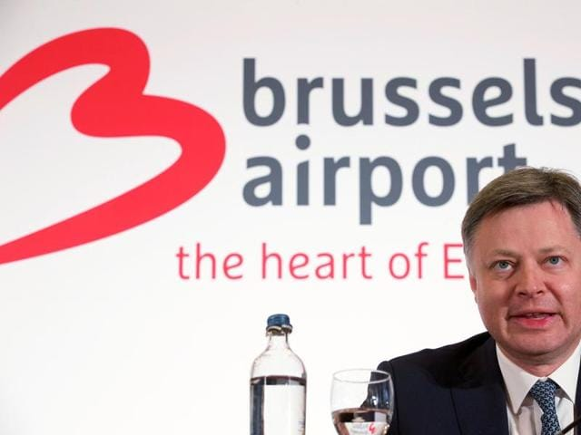 Brussels Airport CEO Arnaud Feist gives a press conference regarding the reopening of Brussels Airport.