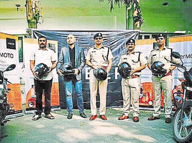 UberMoto was launched in Gurgaon on March 29. Gurgaon police commissioner Navdeep Singh Virk was present at the launch.