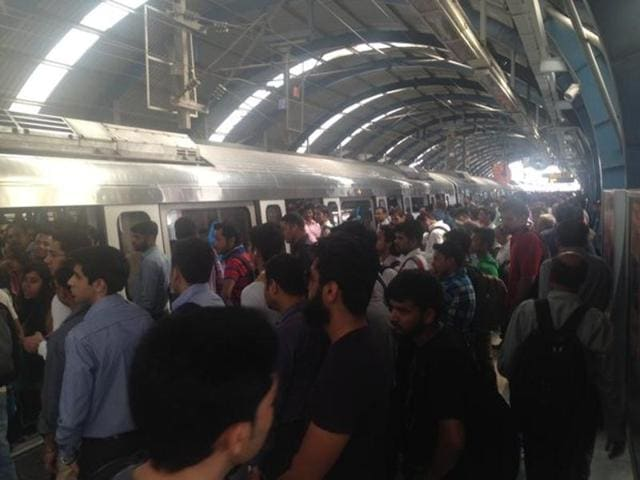 Technical glitch halts metro operations on Dwarka-Vaishali line during Monday morning peak hour.