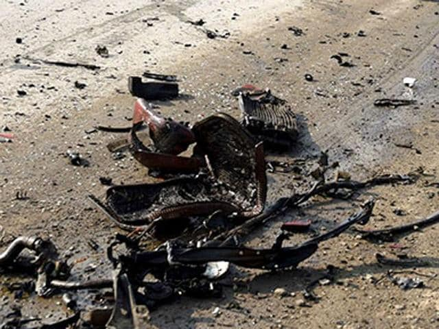 Two people were killed and 12 injured in an IED blast in front of the Dudhnoi police station in Assam's Goalpara district on Monday evening.