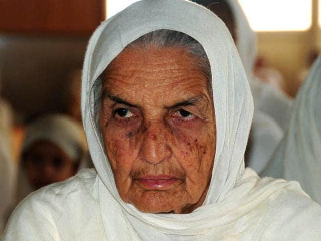 Chand Kaur, wife of former Namdhari sect head Jagjit Singh.