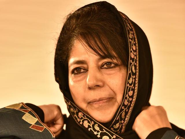 Mehbooba Mufti Sayeed, President of the Jammu & Kashmir Peoples Democratic Party during Hindustan Times Leadership Summit in December 2015.
