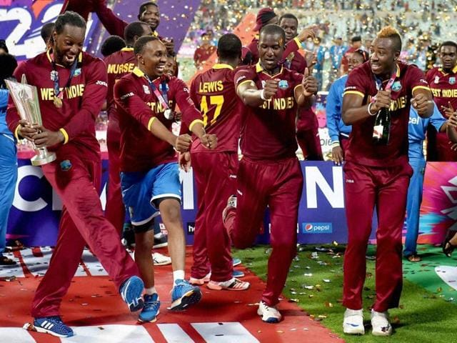 Image result for Champions' Dance on victory in ICC World T20 2016