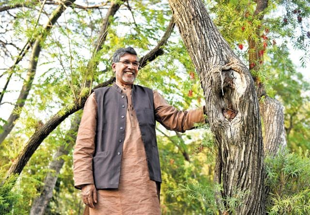 Kailash Satyarthi said 336 million people (government figures) affected by the drought, 40 percent are children, that has led to 22 percent school dropouts. (Photo by Saumya Khandelwal/ Hindustan Times)