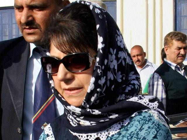 PDP chief Mehbooba Mufti will be sworn in as Jammu and Kashmir's first woman chief minister on Monday.