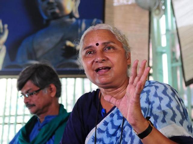 Activist Medha Patkar was denied entry into University of Hyderabad where she wanted to address agitating students.