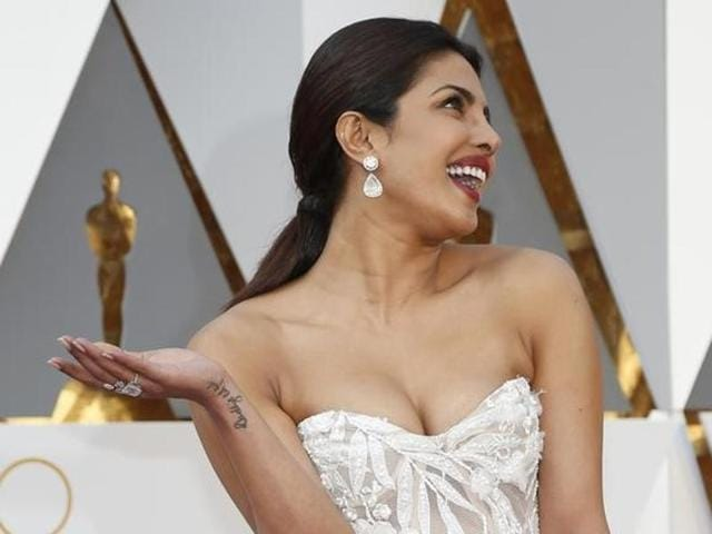 File picture of Priyanka Chopra at the 88th Academy Awards in Hollywood, California.
