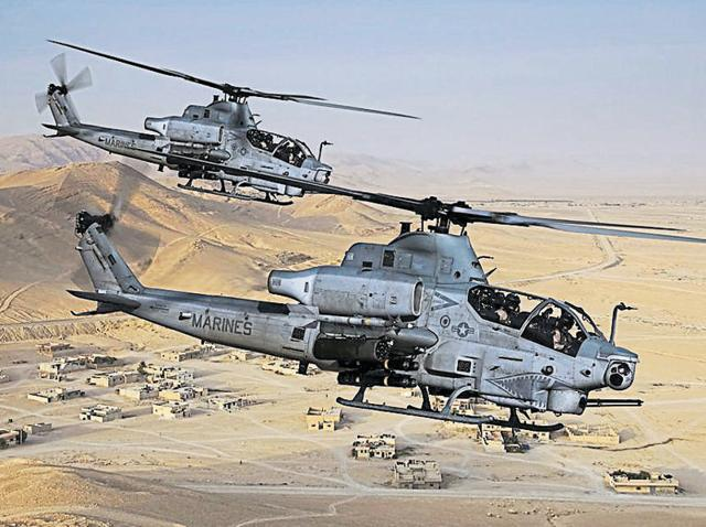 File photo of AH-1Z Viper attack helicopter.