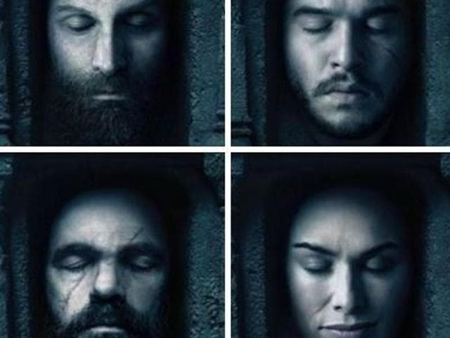 The dark and damp Hall of Faces from Game of Thrones.