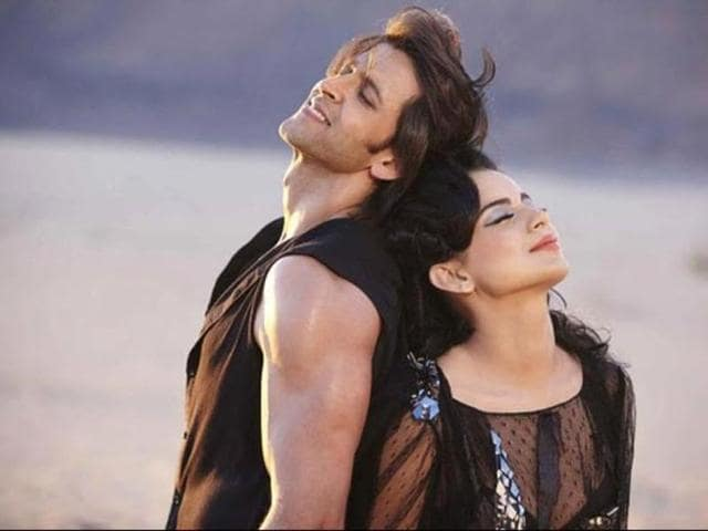 Hrithik, Kangana in a still from Krrish 3. (YouTube)