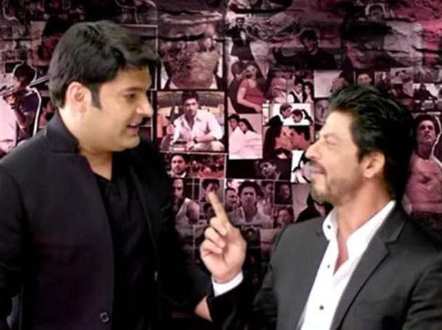 Kapil Sharma and Shah Rukh Khan in The Kapil Sharma Show promo.
