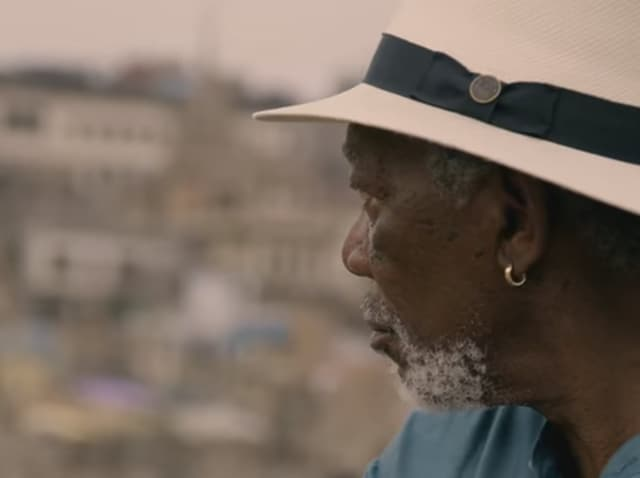 Morgan Freeman shoots for The Story of God in India.