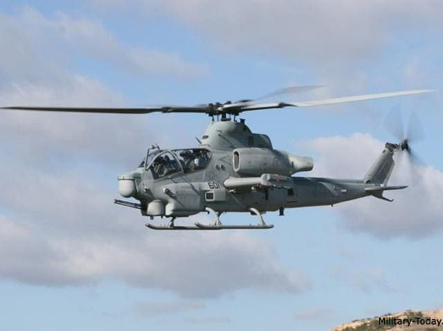 A file photo of an AH-1Z Viper attack helicopter.