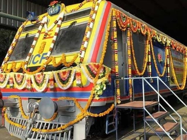 The first ever air-conditioned suburban local for Mumbai, which was flagged off from Integral Coach Factory in Chennai on March 31, has finally arrived in the metropolis, and its trial run would take place within a week, said a senior Central Railway official  on Tuesday.