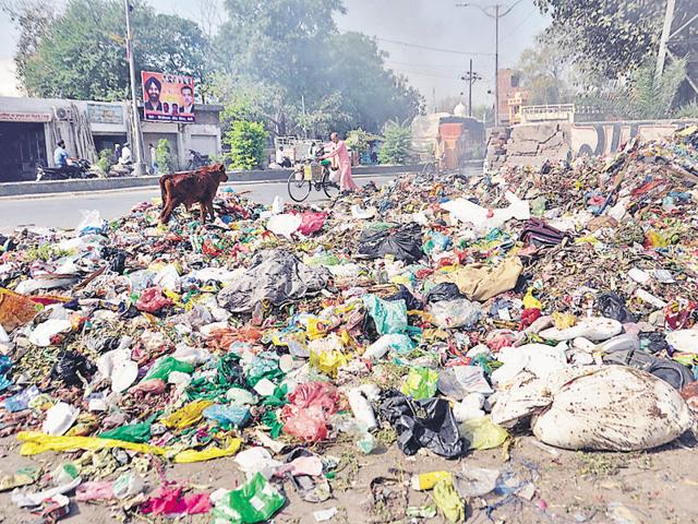 The safai workers didn't lift garbage from dumps and elsewhere on Monday. If the strike continues, the heaps of garbage will swell in size and give the residents tough times as roadside garbage collection points are already emanating foul smell.