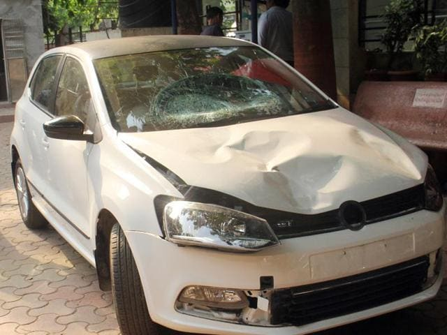 The car that Indrajit Nathoji was driving.