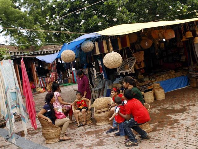 Dilli Haat is a popular shopping destination.