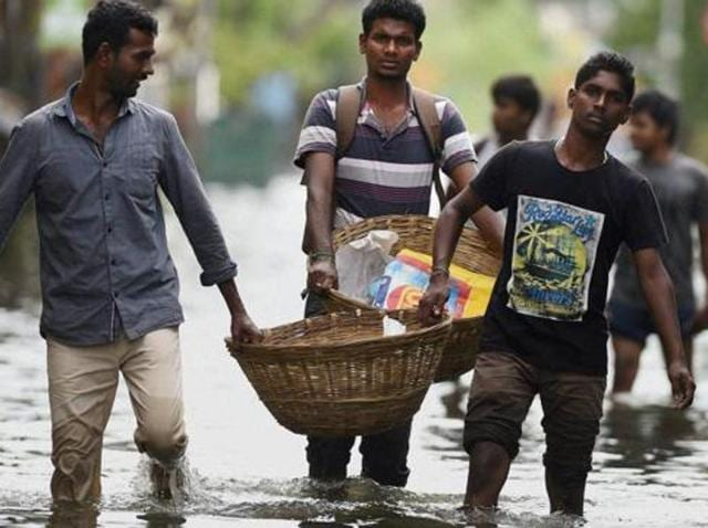 The floods that claimed 421 lives and displaced lakhs have become fodder for political parties ahead of next month's Tamil Nadu assembly elections.