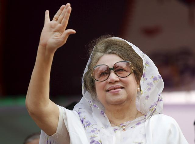Khaleda Zia secured bail in a sedition case and four graft cases after she appeared in five separate courts in Dhaka on Tuesday.