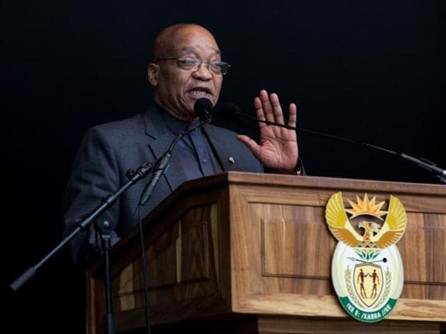 File photo of South African President Jacob Zuma.
