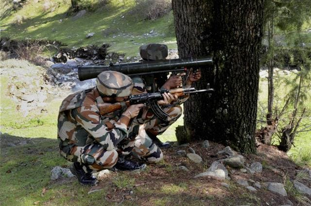 An unidentified militant was killed on Wednesday morning  in an encounter with security forces in north Kashmir's Kupwara district