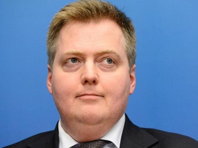 File photo of Iceland's Prime Minister Sigmundur David Gunnlaugsson, who has been named in the Panama Papers about offshore financial dealings.