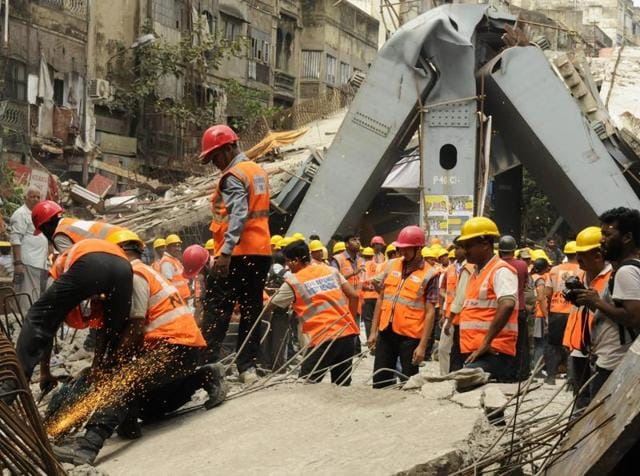 Police have arrested four more officers of the IVRCL in connection with the Vivekananda Road flyover collapse incident.