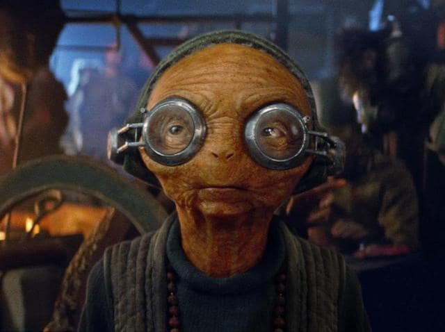 Maz Kanata is played by Lupita Nyong'o in a motion capture performance.