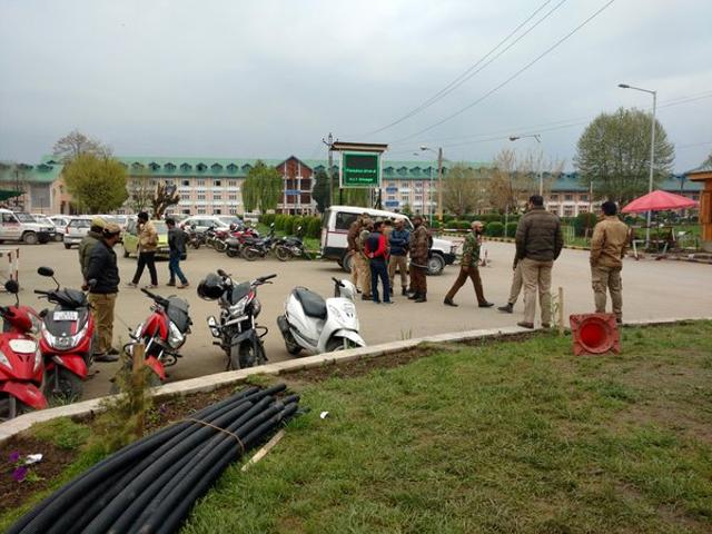 Tension gripped the National Institute of Technology (NIT) Srinagar after a group of students clashed with police on Tuesday