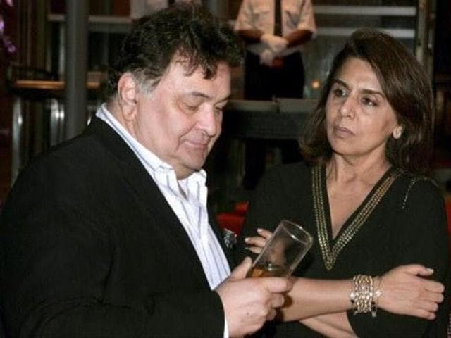 Rishi Kapoor and Neetu Singh at a party to celebrate the success of Kapoor And Sons. (Twitter)