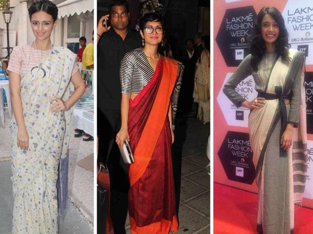 Who says saris can't be fun, funky and freewheeling? The new-age stylistas are giving a cheerful spin to saris by teaming them with everything from T-shirts to sneakers.
