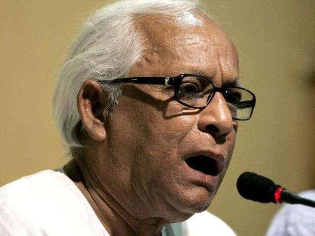 West Bengal 's former chief minister Buddhadeb Bhattacharjee (centre) will campaign for the CPI-M in the assembly polls against CM Mamata Banerjee's TMC.