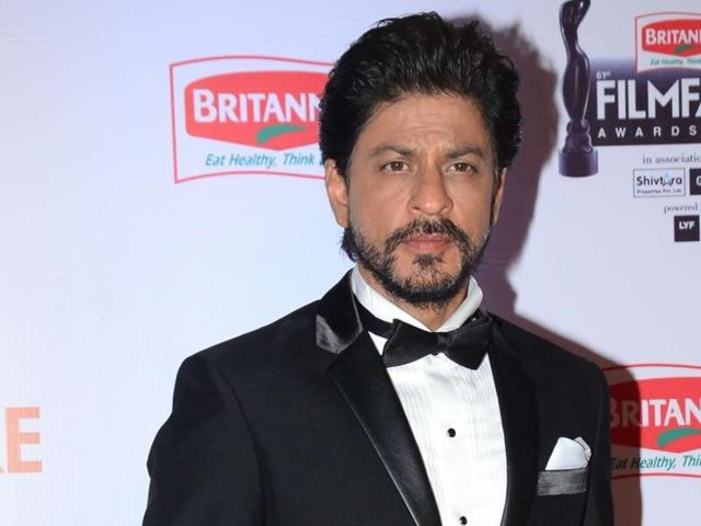 Shah Rukh Khan with Lana Wachowski (right).