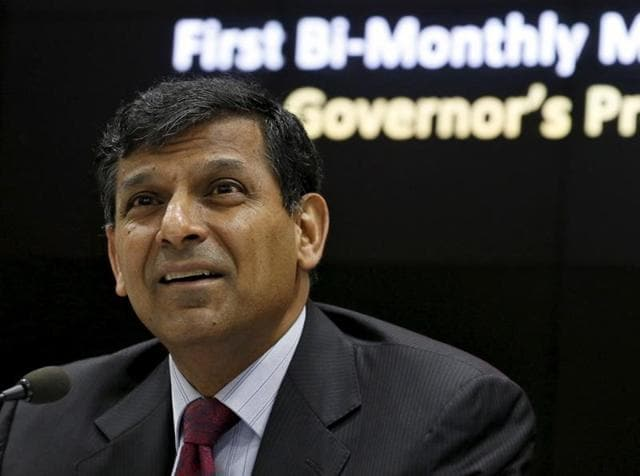 RBI governor Raghuram Rajan speaks during a news conference after the bimonthly monetary policy review in Mumbai.