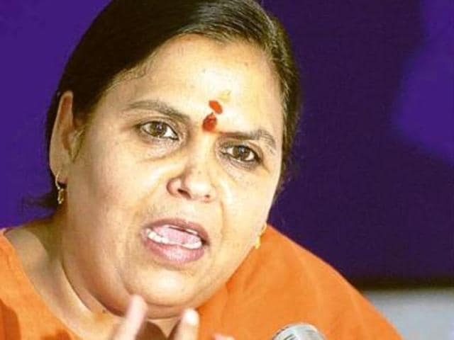Union water resources minister Uma Bharti.