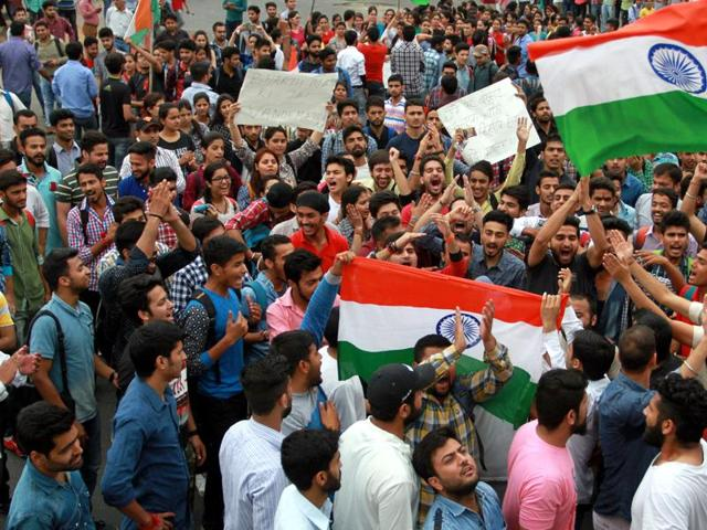 The outstation students are insisting the campus be shifted out from the Valley, preferably to Jammu.