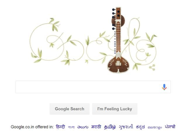 In honour of Shankar's 96th birthday, Google published a doodle whose centrepiece is a sitar