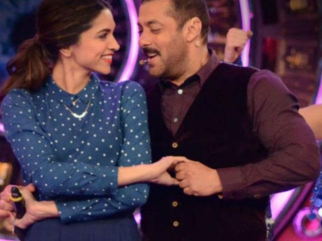 Deepika, Salman on the sets of a reality show. (Colors)